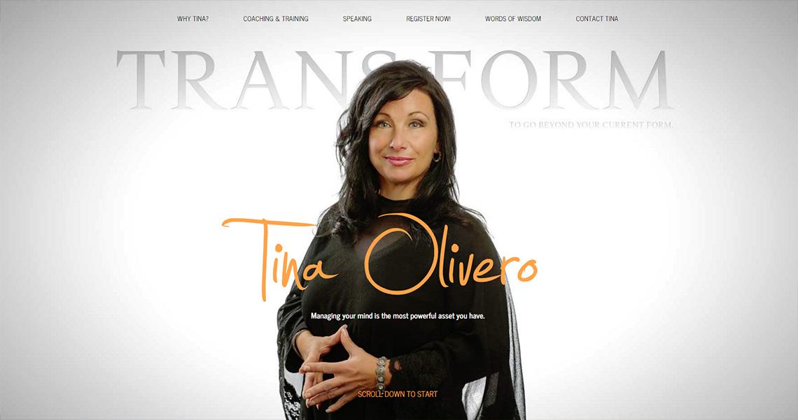 Tina Olivero Web Design Homepage