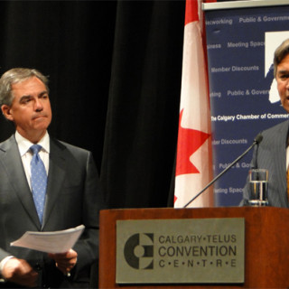 Jim Prentice, Canada's Minister of Environment and Gary Doer, Canada's Ambassador to the United States of America