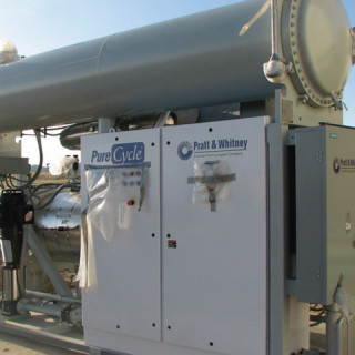 Geothermal Energy ORC unit at the RMOTC site in Casper, Wyoming.