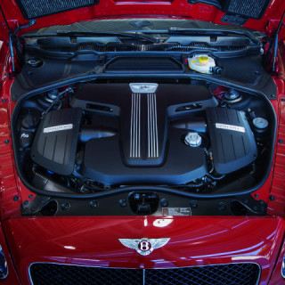 bentley continential gt v8 under the hood