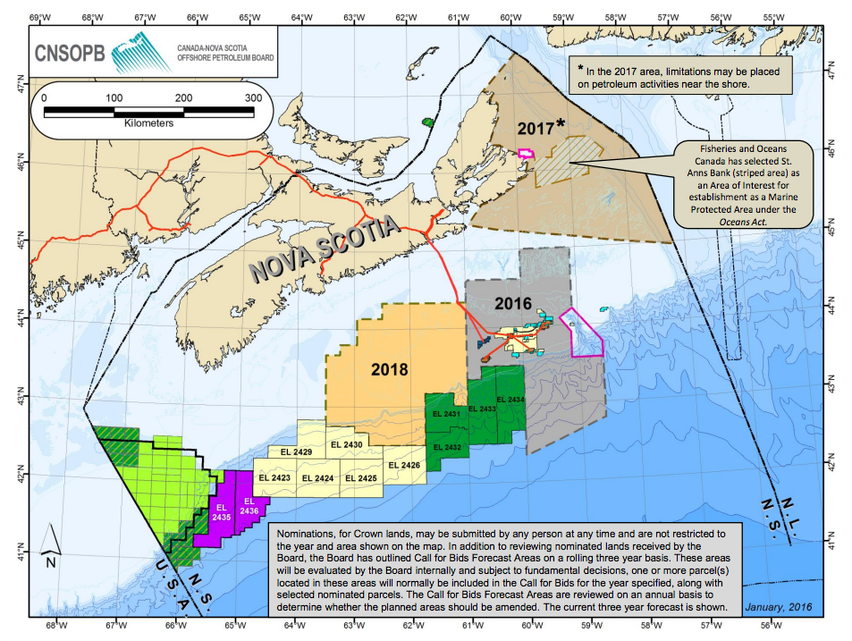 Offshore NS Call for Bids